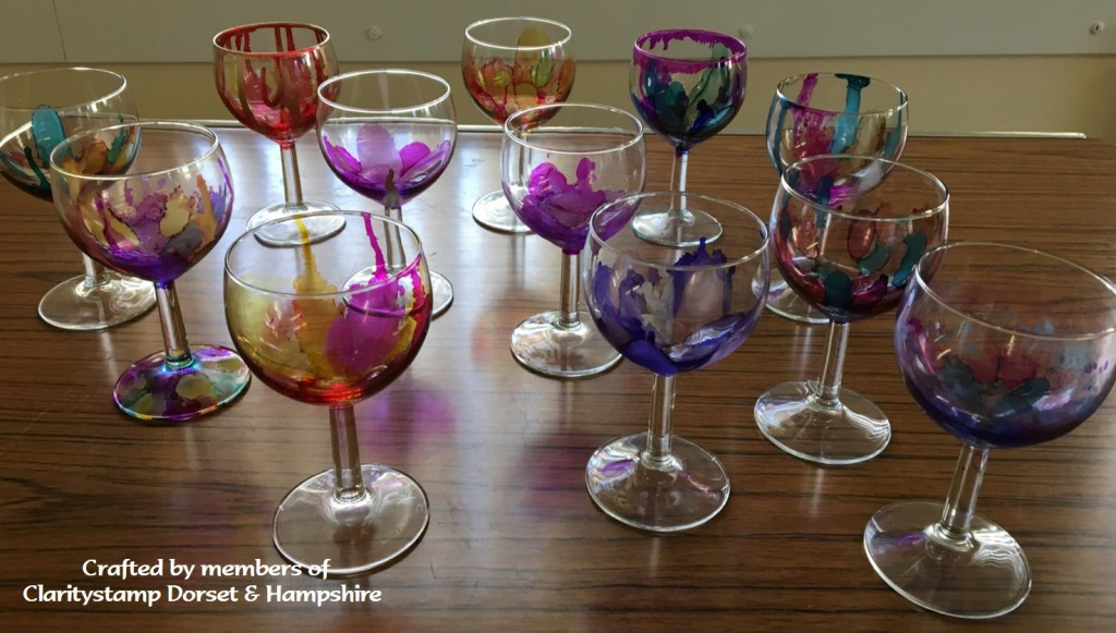 Glasses and Alcohol Ink